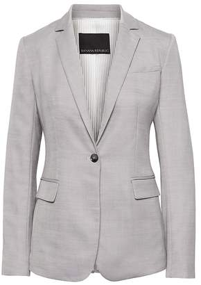 Banana Republic Long and Lean-Fit Wool-Blend Blazer
