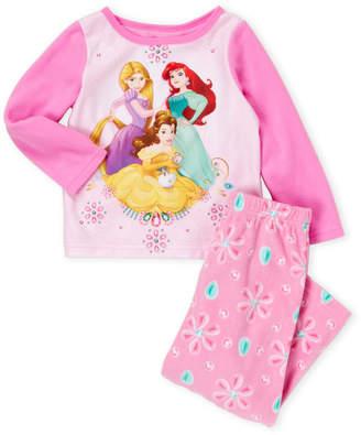 Disney Princess (Toddler Girls) Two-Piece Princess Fleece Pajama Set