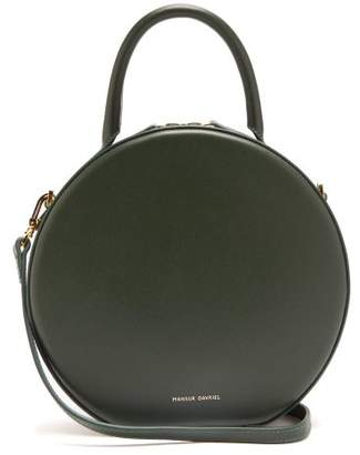 Mansur Gavriel Circle Leather Cross Body Bag - Womens - Dark Green