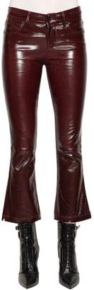 RtA Kiki Crop Boot Cut Patent Leather Pants