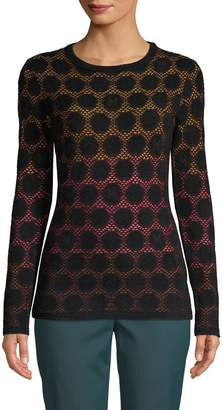 M Missoni Textured Ombre Knit Pullover