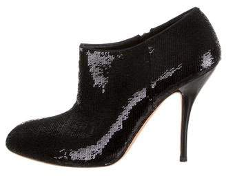 Gucci Sequined Ankle Booties
