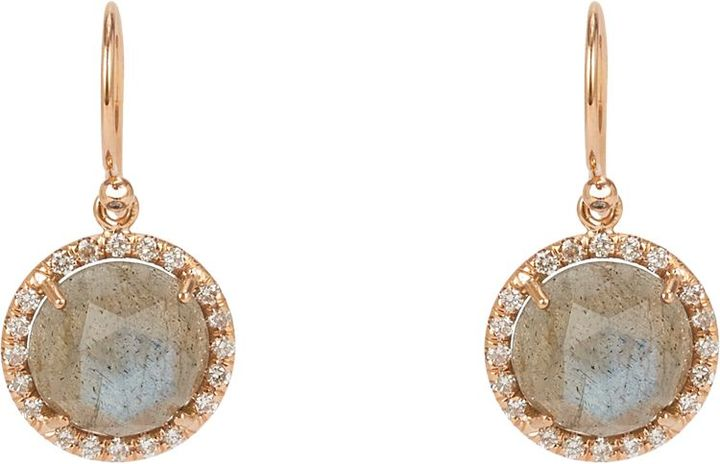 Irene Neuwirth Women's Gemstone Double-Drop Earrings-Colorless