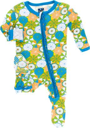 Kickee Pants Baby Girl's Beach Umbrella Muffin Ruffle Footie