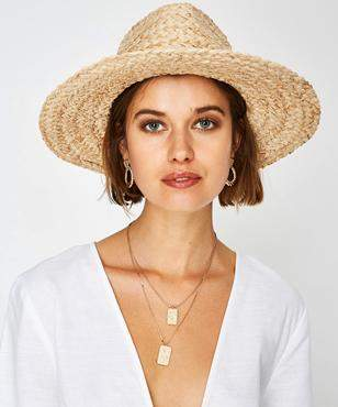 Subtitled Ray Straw Hat Natural