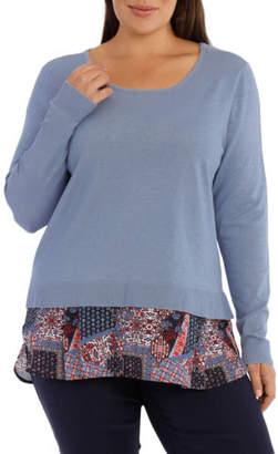 NEW Regatta Woman Knit Woven Jumper / Lt Blue RW18145WA