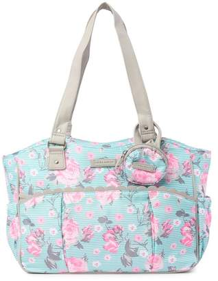 Laura Ashley Mint Floral Diaper Bag