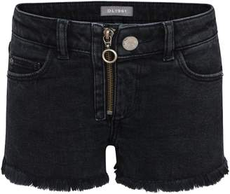DL1961 Frayed Ring Pull Denim Shorts