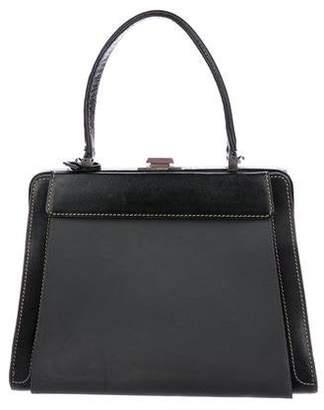 Delvaux Pebbled Leather Frame Bag