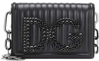 at mytheresa · Dolce   Gabbana Girls leather shoulder bag 82526b957629f