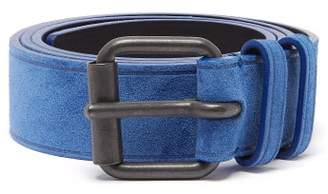 Haider Ackermann Buckled Suede Belt - Womens - Navy