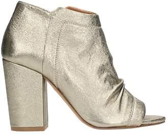 Julie Dee Wash Gold Ankle Boots