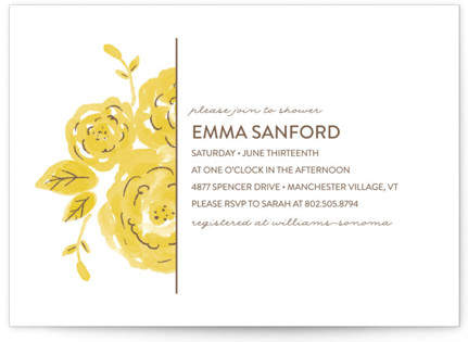Summer Blooms Bridal Shower Invitations
