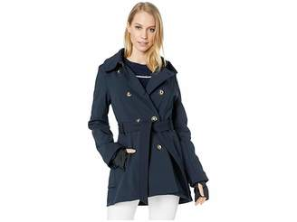 Jessica Simpson Military Inspired Softshell Trench Women's Coat