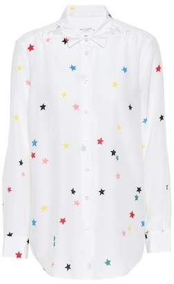 Equipment Star-printed silk shirt