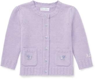 Ralph Lauren Kids Embroidered Wool Cardigan