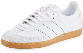 adidas Samba Scale-Embossed Leather Platform Sneaker