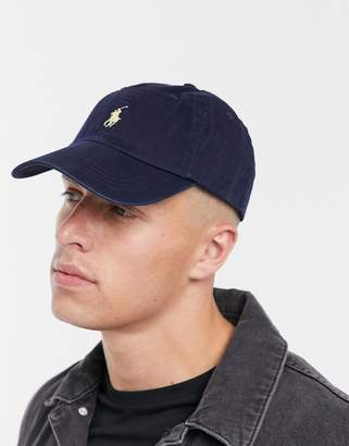 e24d7f9ccdc Polo Ralph Lauren baseball cap with white player logo in washed navy