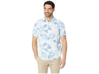 Nautica Short Sleeve Hawaiian Print Linen Shirt