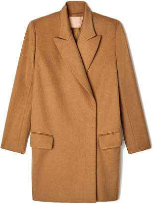 Brock Collection Claire Double-Breasted Camel Coat