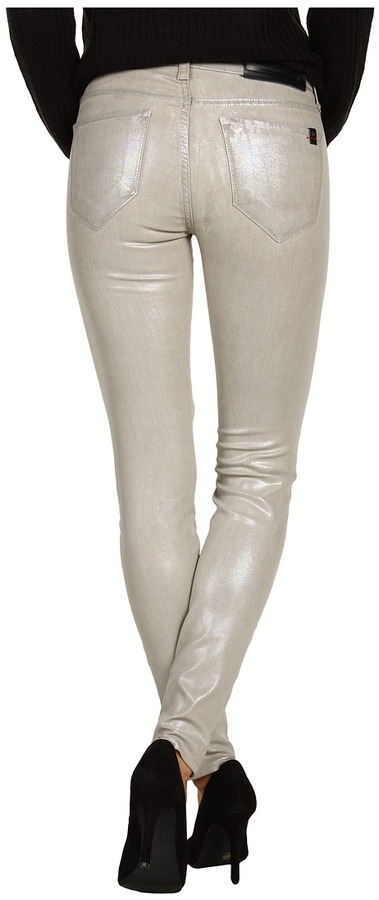 !iT Denim - Stiletto Ankle in Iridescent Silver (Iridescent Silver) - Apparel