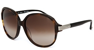 Chloe Round Sunglasses: Black Tortoise