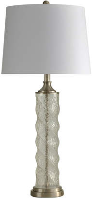 Stylecraft Style Craft Clear Glass Spiral Column Table Lamp