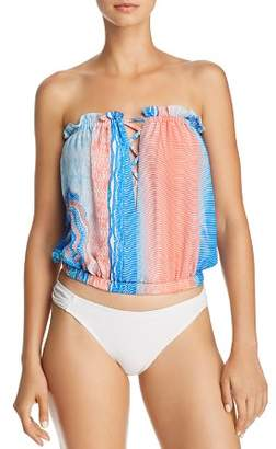 Ramy Brook Printed Mika Top Swim Cover-Up