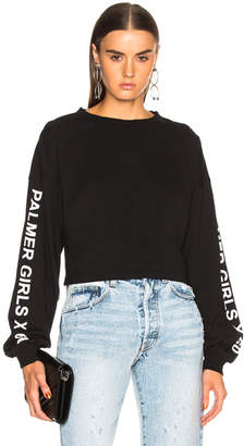 Miss Sixty Palmer Girls x Long Sleeve Crop Tee