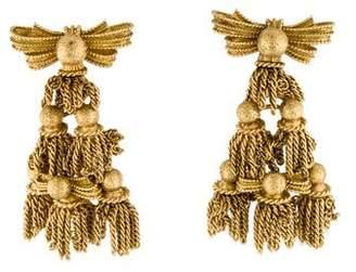 Tiffany & Co. 18K Ribbon Bow & Tassel Earring