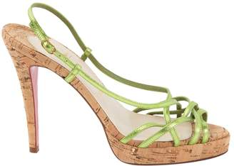 Christian Louboutin Green Leather Sandals
