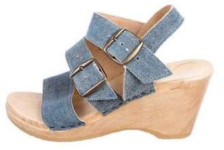 No.6 Denim Wedge Sandals