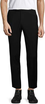 The Kooples Men's Micro Pattern Straight Fit Wool Trousers