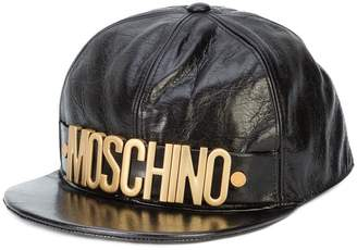 Moschino logo crinkled baseball cap