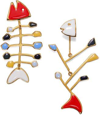 Tory Burch SMALL MISMATCHED FISH EARRING