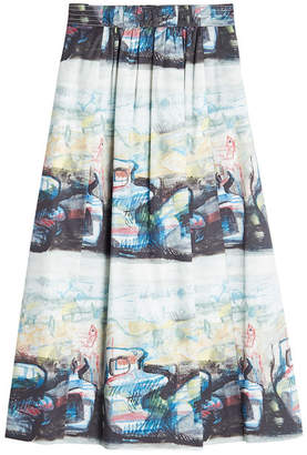 Burberry Kindle Printed Midi Skirt