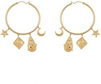 Wanderlust + Co Astra Gold Hoop Earrings
