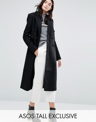 ASOS Tall ASOS TALL Double Breasted Slim Maxi Coat $143 thestylecure.com