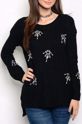 People Outfitter Rhinestone Sweater