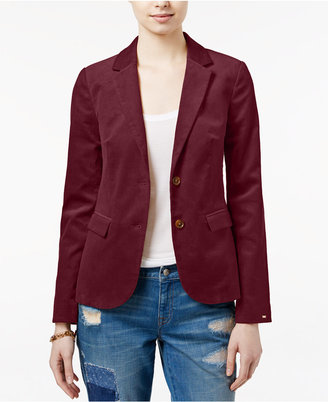 Tommy Hilfiger Danni Two-Button Corduroy Blazer $139.50 thestylecure.com