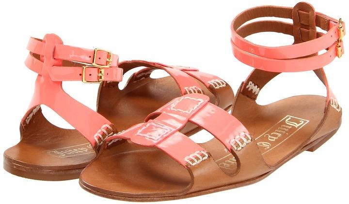 Juicy Couture Zizia (UV Orange Patent/Caramel Vacchetta) - Footwear