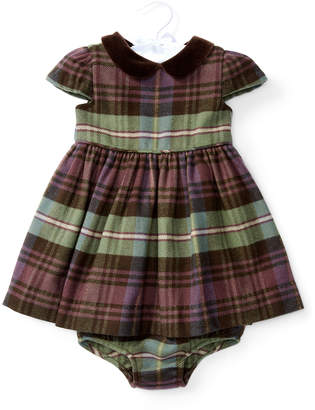 Ralph Lauren Cap-Sleeve Plaid Dress w\/ Bloomers Blue\/Green\/Red Size 6-24 Months