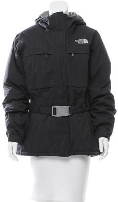 The North Face Belted Puffer Coat $130 thestylecure.com