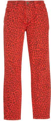 Current/Elliott The Stiletto Leopard Print Jean