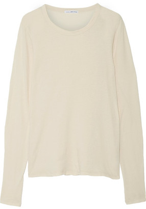 James Perse - Little Boy Tee Brushed-cotton Top - Cream $135 thestylecure.com