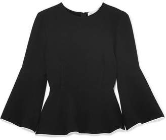 Rachel Zoe Apollo Crepe Peplum Top - Black