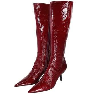 Miu Miu Red Patent leather Boots