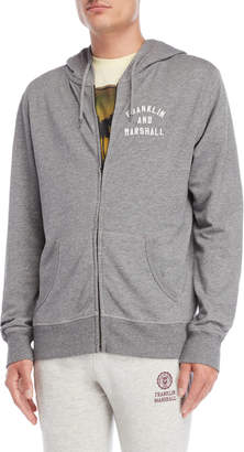 Franklin & Marshall Embroidered Logo Zip Hoodie