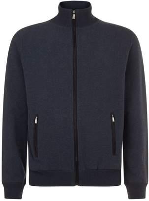 Canali Melange Zip Sweater