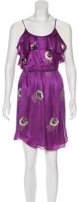 Rebecca Taylor Floral Print Knee-Length Dress